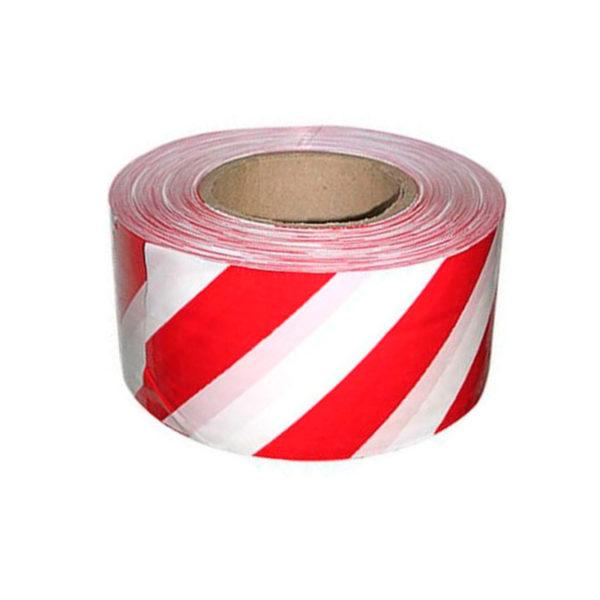 Лента сигнальная 50ммх200м/п, красно-белая (Код-00000877)